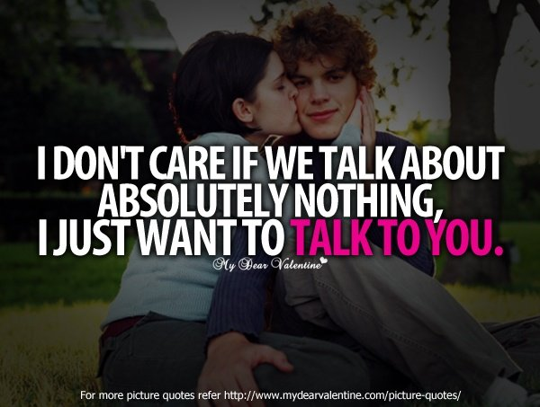 I Just Want To Talk You Boyfriend Quotes Apnatalkscom Apnatalks