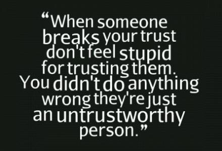 untrustworthy relationships